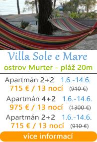 Villa Sole e Mare - ostrov Murter