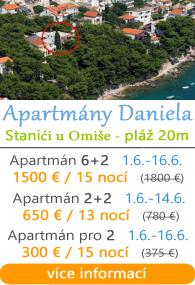 Apartmány Daniela - Stanići u Omiae