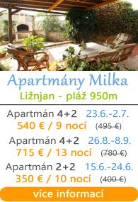 Apartmány Milka - Ližnjan u Medulinu