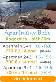 Apartmány Bebe- Rogoznica